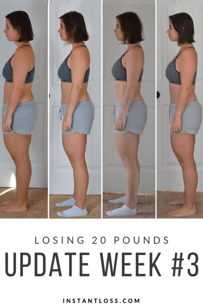 Losing 20 Pounds/Update Week #3