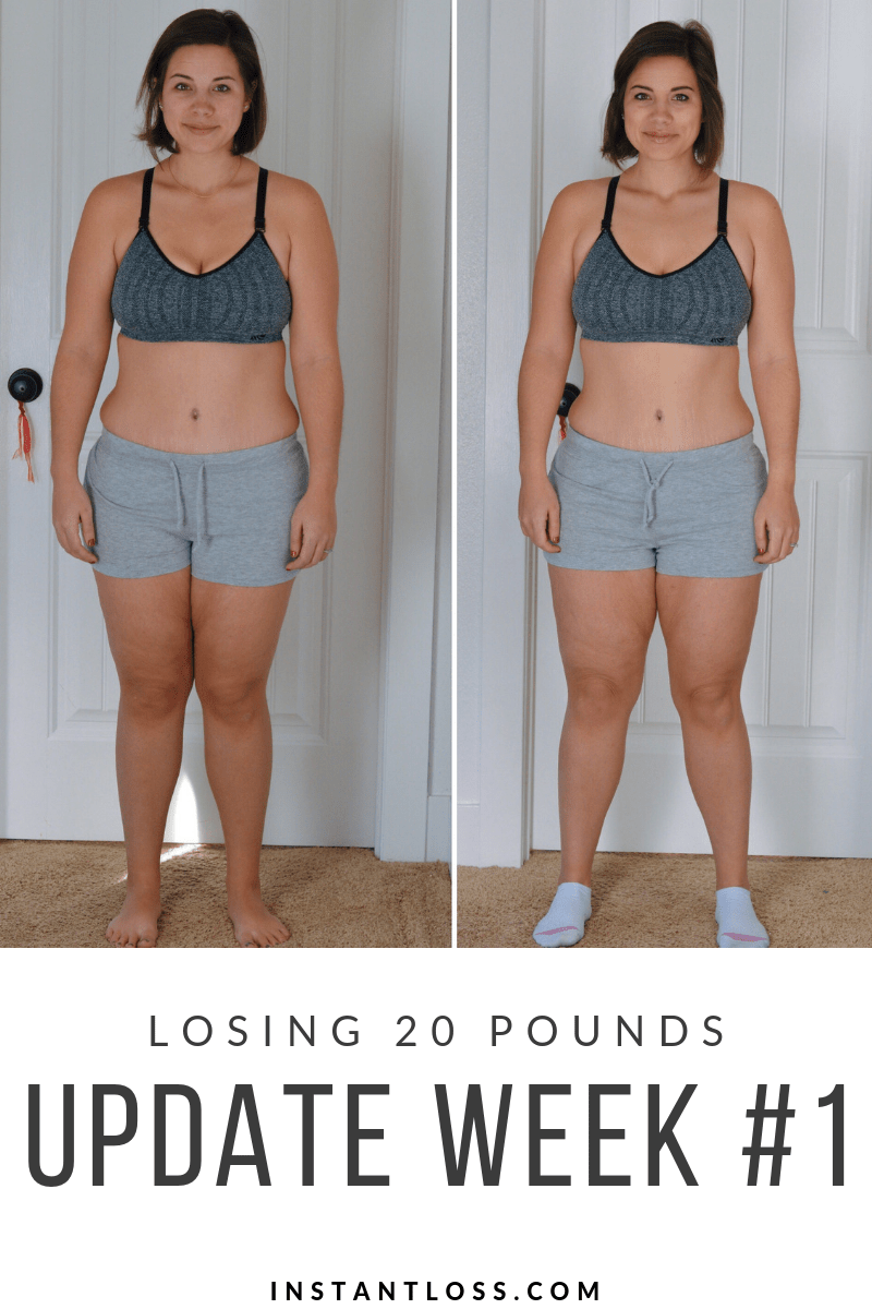 Losing 20 Pounds Update Week 1