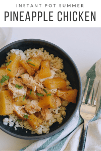 Instant Pot Summer Pineapple Chicken instantloss.com
