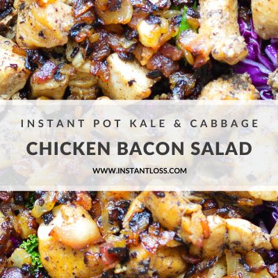Instant Pot Kale and Cabbage Chicken Bacon Salad