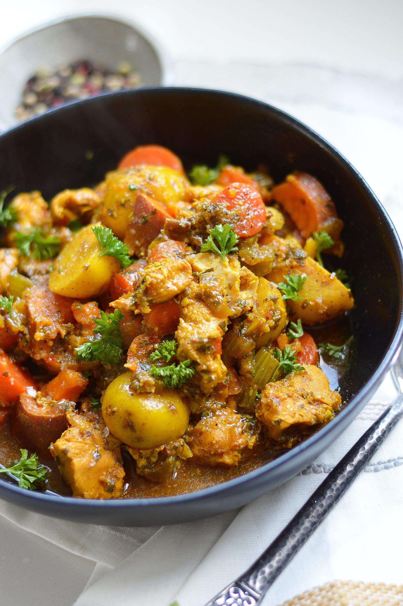 Instant Pot Ginger Turmeric Chicken Stew instantloss.com