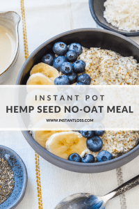 Instant Pot Hemp Seed No-Oat Meal instantloss.com