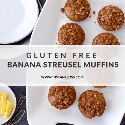 Gluten Free Banana Streusel Muffins