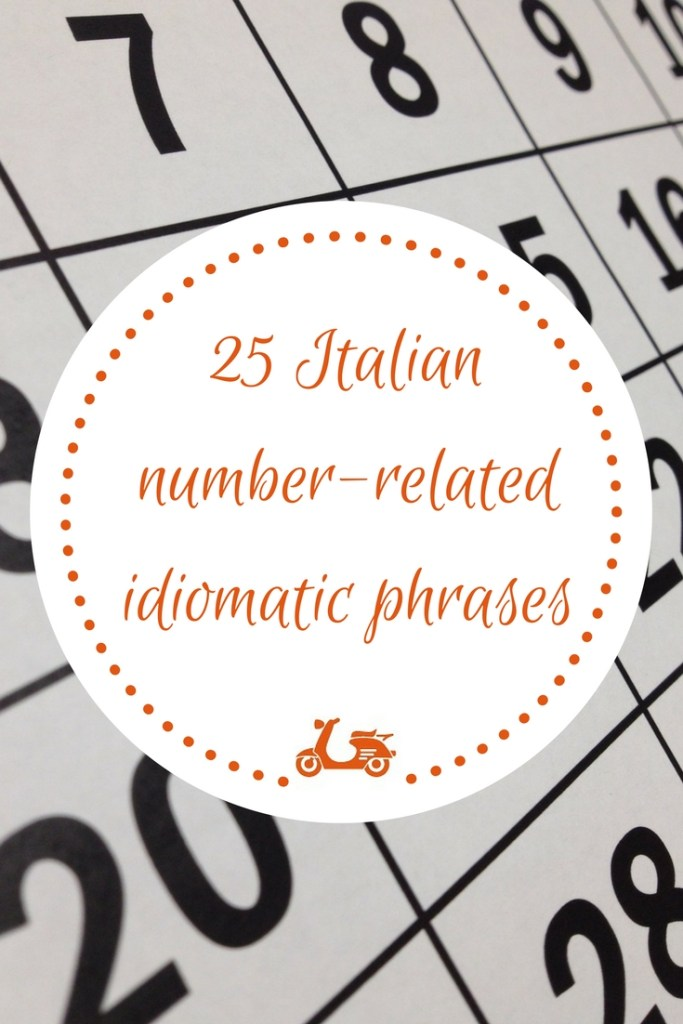 "In this post, you'll find a list of 25 Italian idiomatic phrases that are related to numbers, After reading it, you'll know the meaning of common Italian phrases like ""prendere il due di picche"" or ""farsi in quattro"" (and many more)."