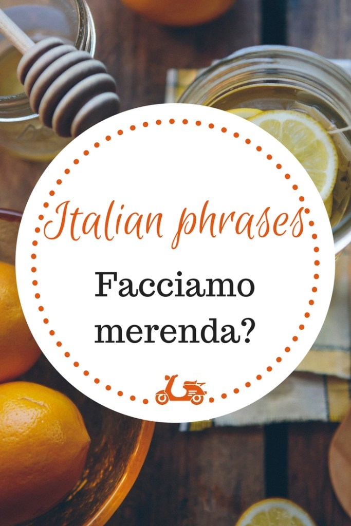 """Some common phrases in a language may have a meaning that goes deeper than its literal one. In today's post, I focus my attention on """"Facciamo merenda?"""", an Italian phrase which has to do with food and childood and sweet memories of the past."""