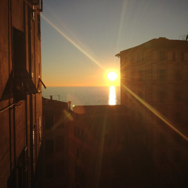 Sunset in Camogli, Liguria