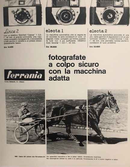 Ferrania, an advertisement in b/w