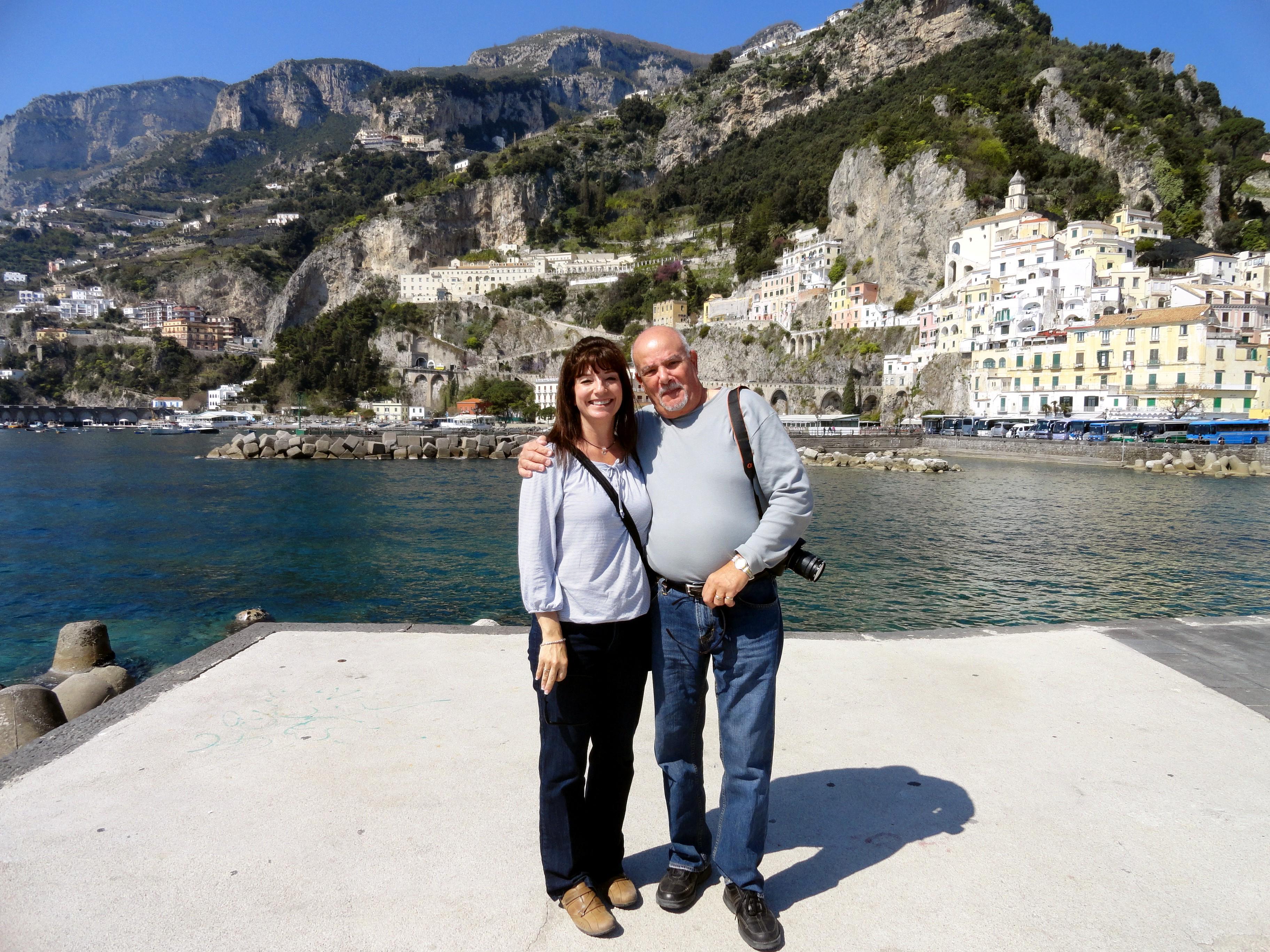 Ilene and Gary in Amalfi
