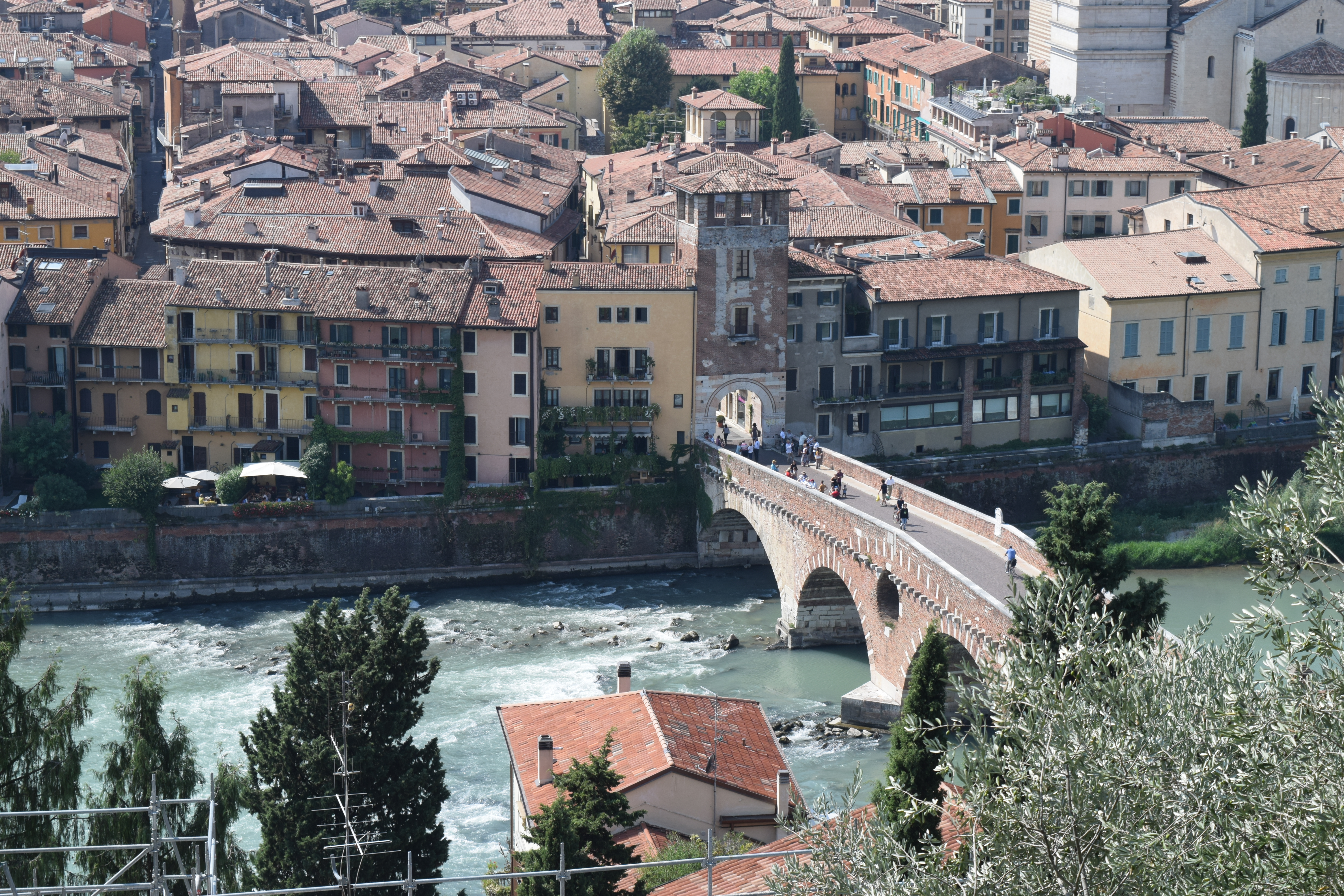 Ilene and Gary Modica, a view of Verona