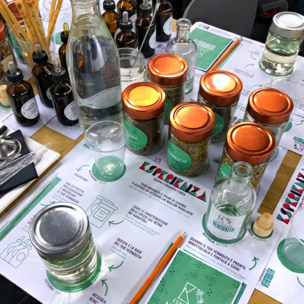 Esperienza Vermouth, a selection of spices and herbs