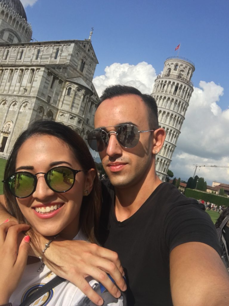 Isabella Paz, with Pierpaolo in Pisa