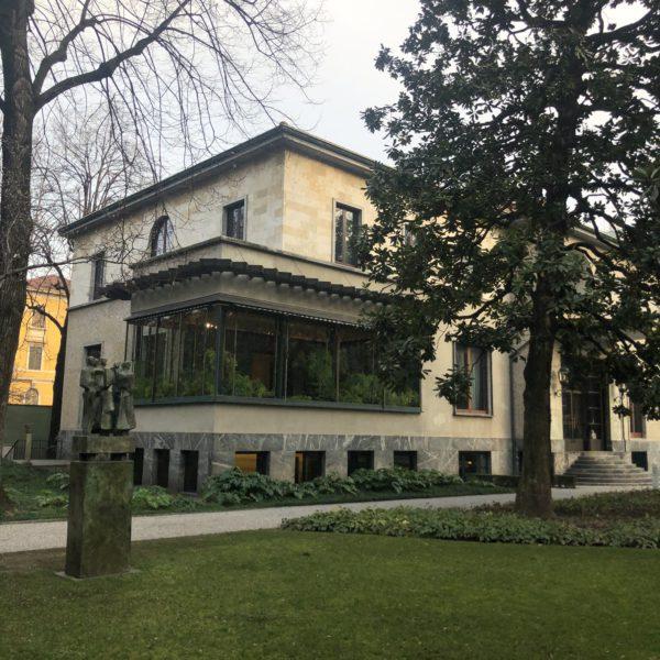 A view of the garden in Villa Necchi Campiglio in Milan