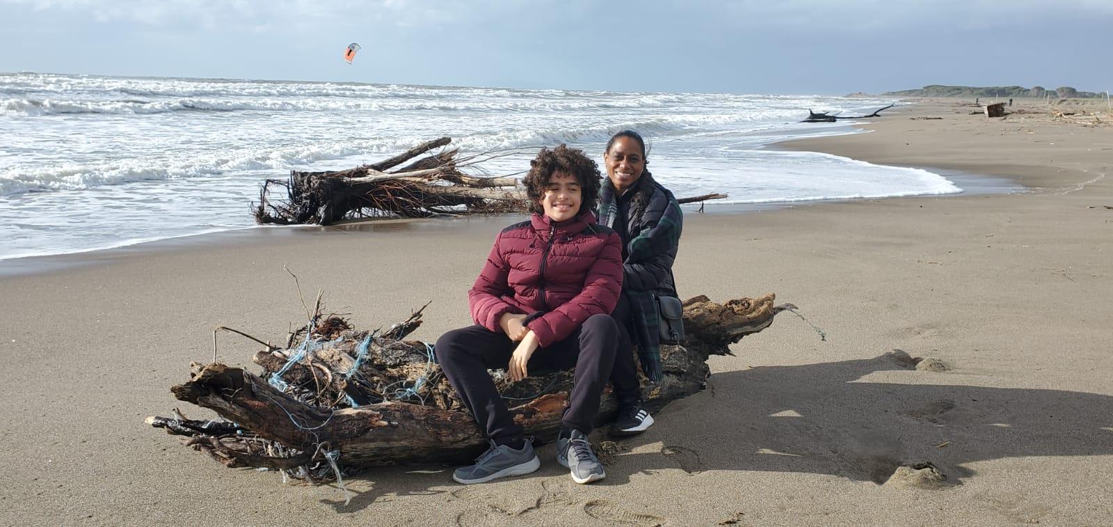 Juli-Anne with her son