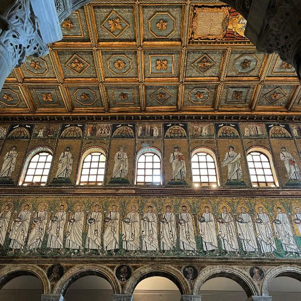 Ravenna, beautiful mosaics in Sant'Apollinare Nuovo