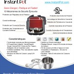 Instant Pot 10 safety features in French