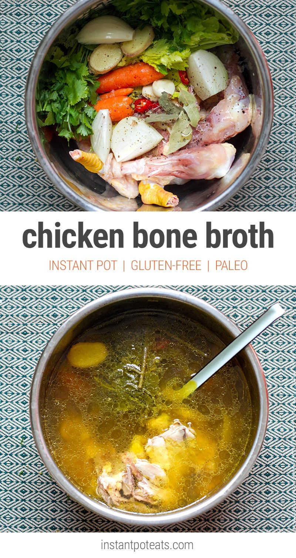 Instant Pot Chicken Bone Broth (Pressure Cooker Recipe)