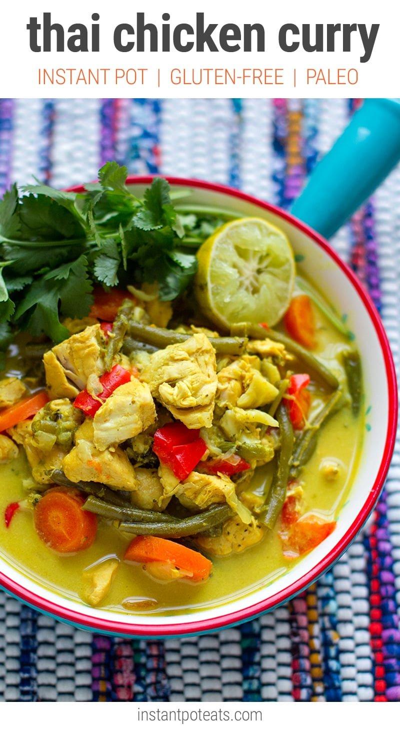 Instant Pot Thai Chicken Curry (Gluten-free, Paleo)