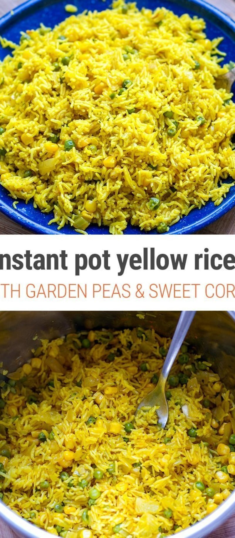 Homemade Yellow Rice Pot With Peas & Corn - Instant Pot Recipe, Gluten-Free