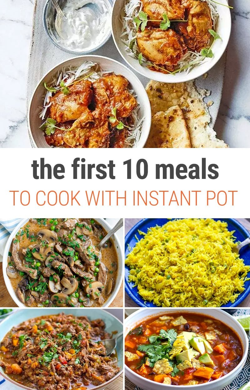 Instant Pot Recipes For Beginners - The First 10 Meals You Should Make In Your Pressure Cooker #instantpot #pressurecookre #dinner