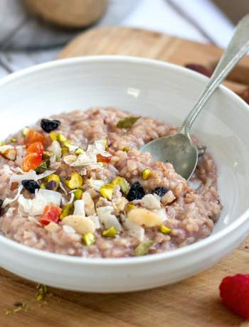 Tasty vegetarian vegan recipes for your instant pot pressure cooker chai spiced instant pot rice pudding vegan dairy free gluten free forumfinder Images