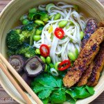 Instant Pot Vegan Udon Soup With Tempeh