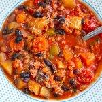 Italian Instant Pot Bean & Pork Stew