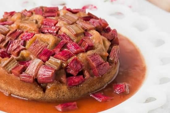 Instant Pot Cake With Rhubarb