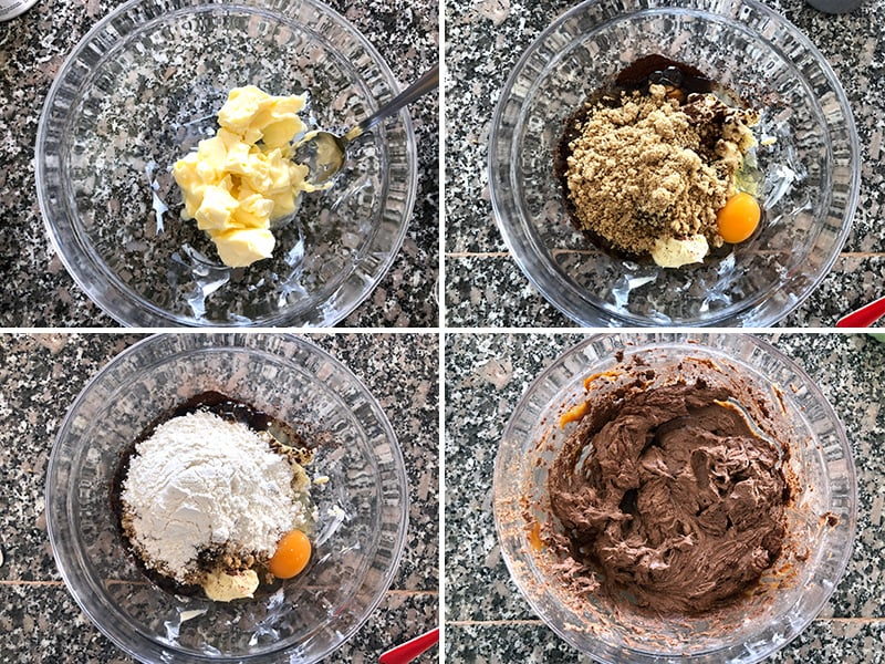 Making Instant Pot chocolate cake steps 1