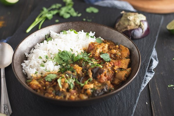 Instant Pot Chicken Eggplant Curry