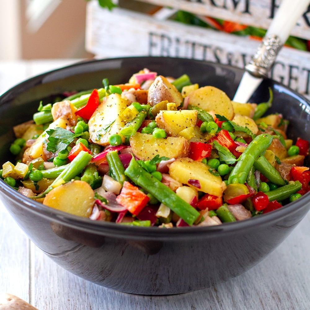 instant pot potato salad with tangy vinaigrette