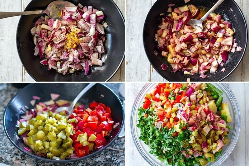 Instant Pot potato salad steps 2