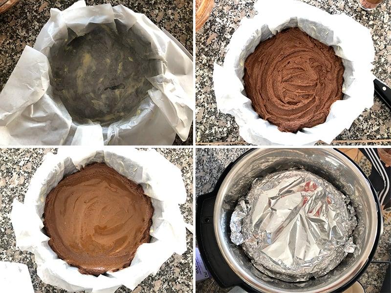 Making pressure cooker chocolate cake step 2