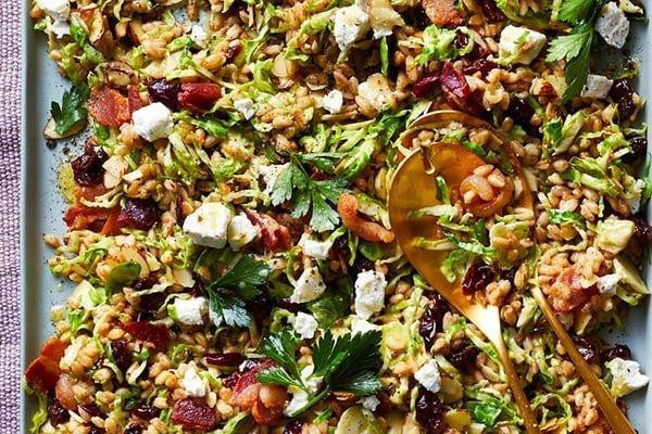 35+ Summer Friendly Instant Pot Recipes Brussels Sprouts Farro Salad