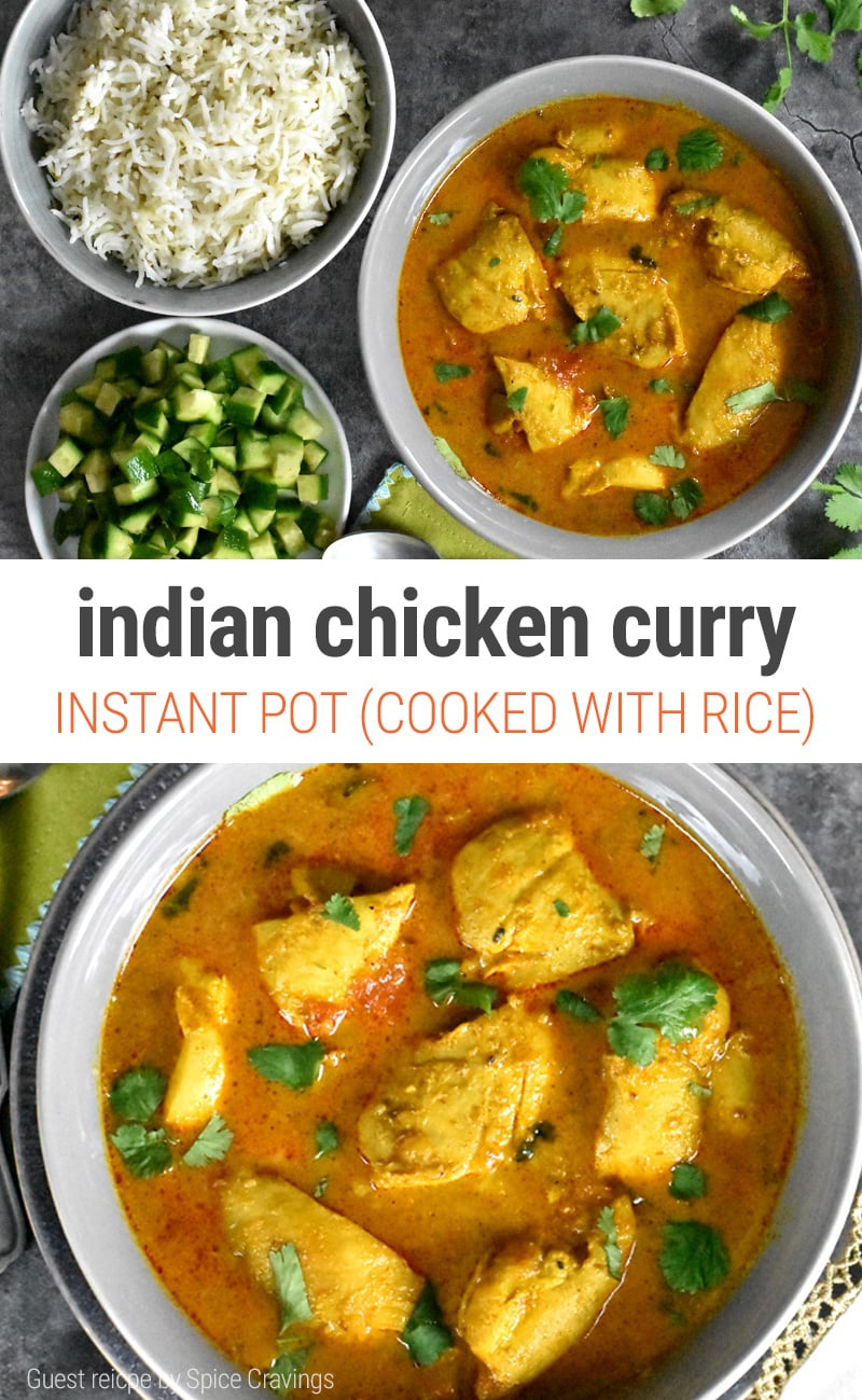 Chicken Curry Instant Pot - Indian Stew Made With Rice In The Same Pot