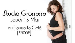 Séance Photo Grossesse Paris au Poussette Café   Jeudi 16 mai 2013