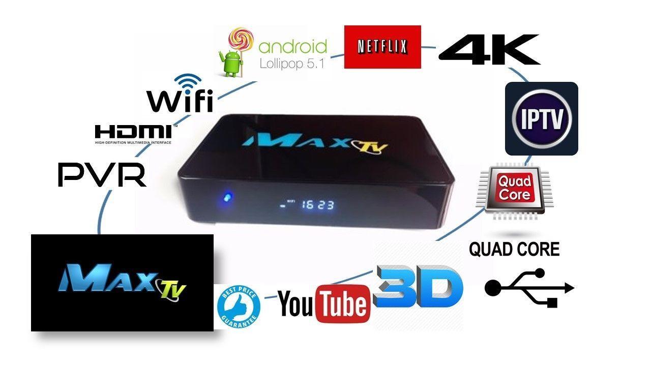 2018 MAXTV IPTV Set-Top-Box 2GB/8GB Quad Core 4K Kills any other IPTV box