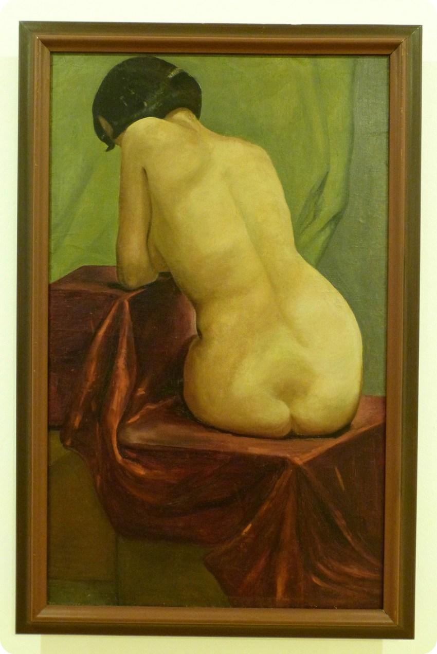 Tableau d'une femme de dos au Musée d'Art de Bogotá