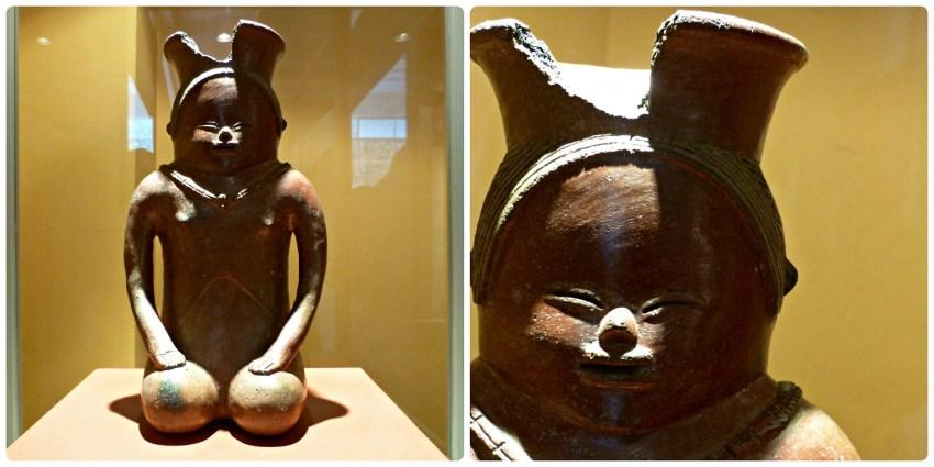Statuette représentant une femme à genoux au Musée archéologique de Manizales