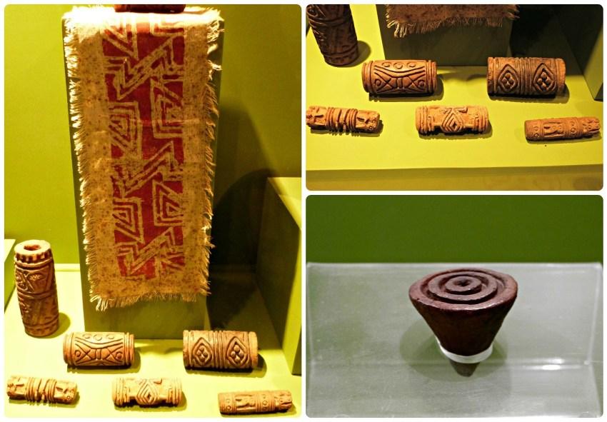 Rollos-sellos para el cuerpo en el Museo Arqueológico de Manizales