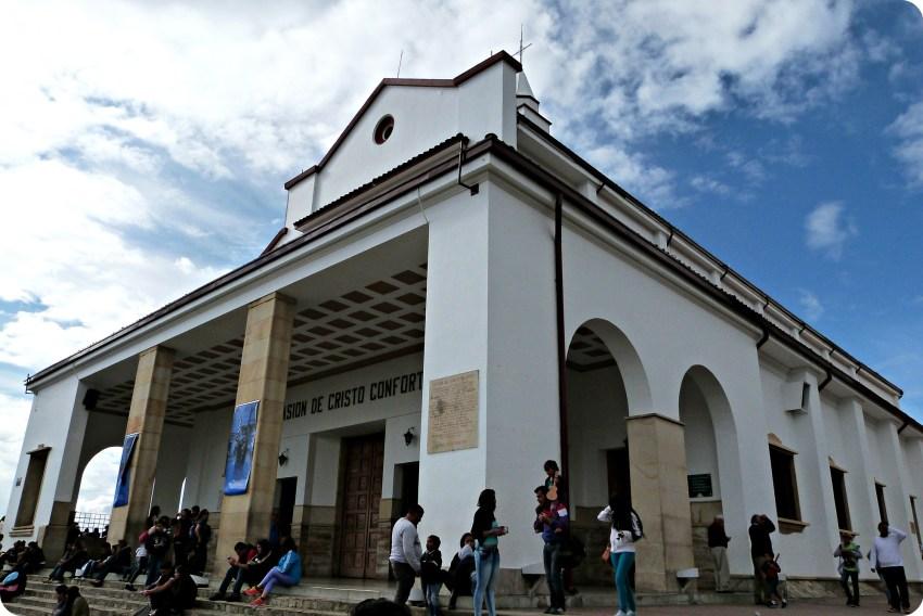 Eglise tout en haut de Monserrate à Bogotá