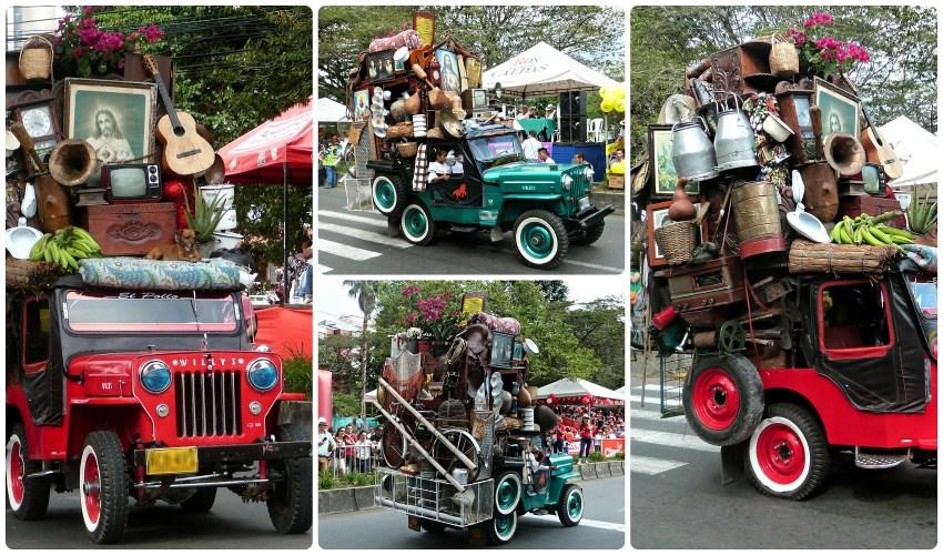 Jeeps en el desfile del Yipao en Armenia