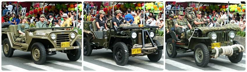 Caros militares en el desfile del Yipao en Armenia