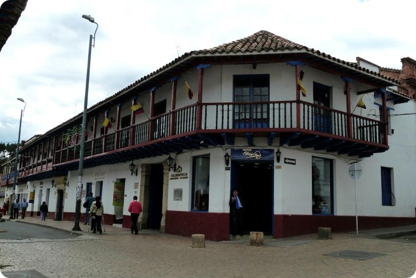 Bâtiment d'une rue de Zipaquira