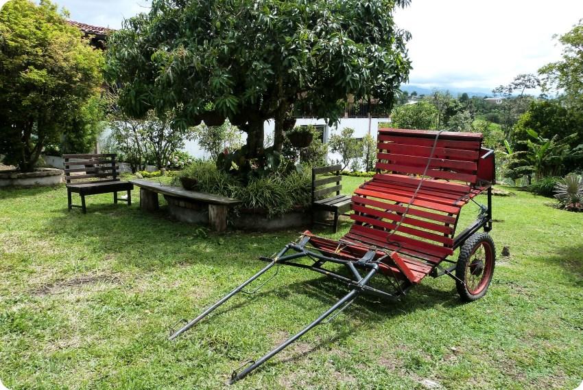 Jardin du restaurant Rancho de Lucho de Popayán
