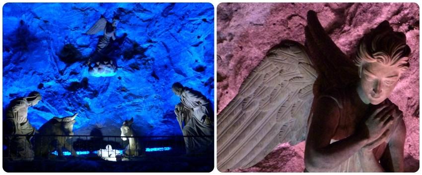 Escultura de la Natividad en la catedral de sal de Zipaquira