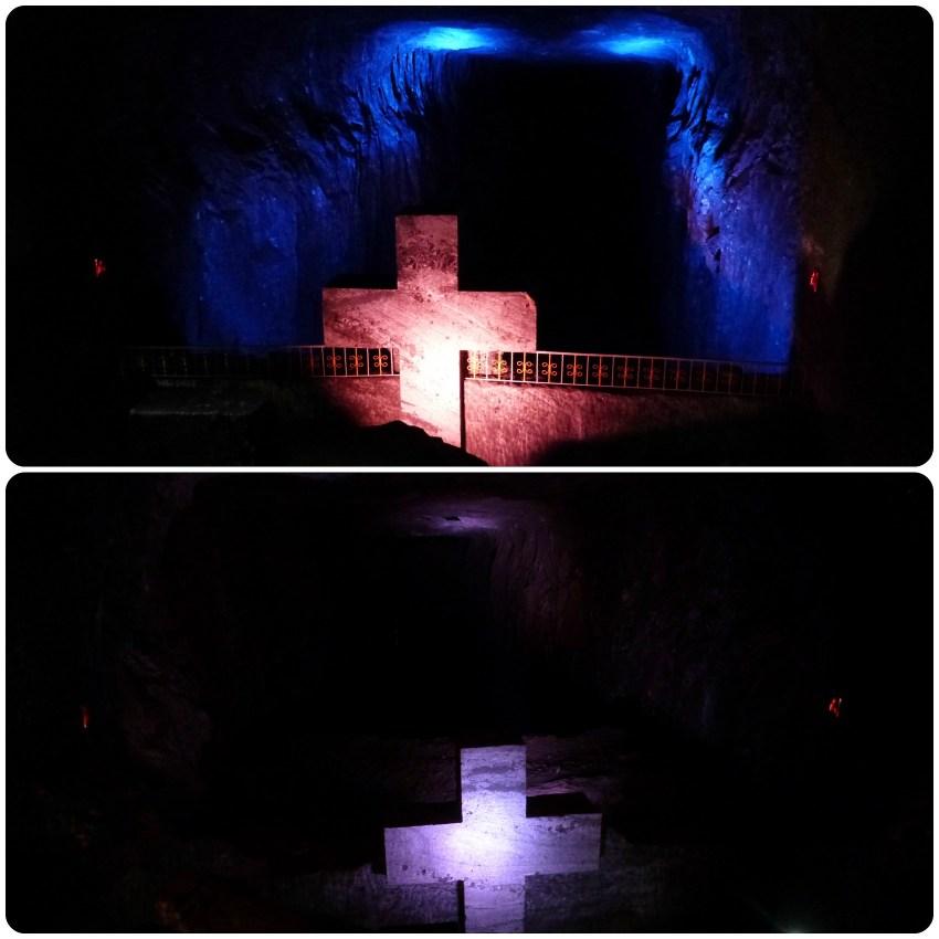 Profondidades de las cavidades de la catedral de sal de Zipaquira