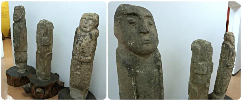 Estatuas en el Museo de historia natural de Popayán