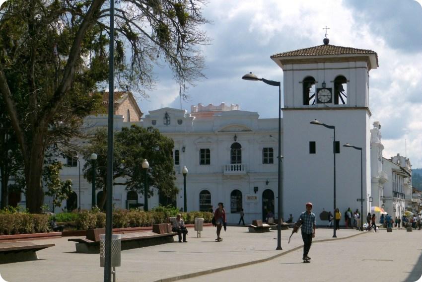 Torre del Reloj en el Parque Caldas de Popayán