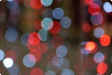 Zoom sur les lumières de Noël du centre commercial Portal del Quindío d'Armenia