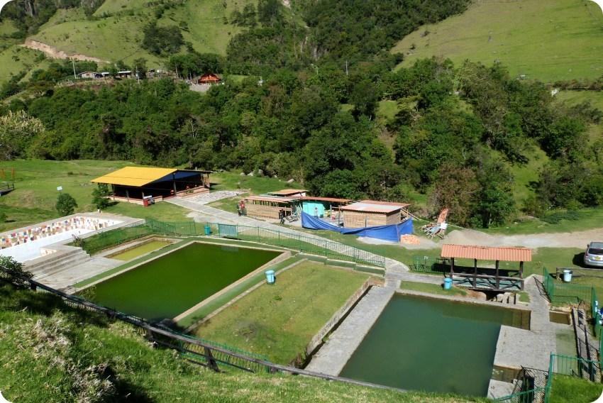 piscines d'eau thermale à Aguas Tibias de Coconuco